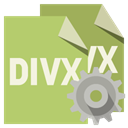 File, Gear, Divx, Format DarkKhaki icon