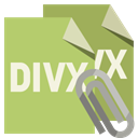 Divx, Attachment, Format, File DarkKhaki icon