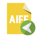 Format, Aiff, File, Left Goldenrod icon