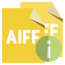 Info, Format, Aiff, File Goldenrod icon