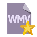 File, Wmv, Format, star LightSlateGray icon