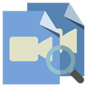 video, File, zoom, type CornflowerBlue icon