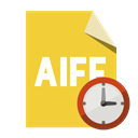 Aiff, Format, Clock, File Goldenrod icon