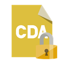 File, Format, Lock, Cda Goldenrod icon