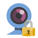 Lock, Webcam CornflowerBlue icon