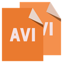 Avi, File, Format Chocolate icon