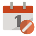Calendar, cancel Gainsboro icon