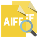 zoom, Format, File, Aiff Goldenrod icon