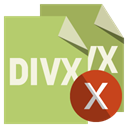 File, Format, cross, Divx DarkKhaki icon