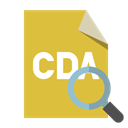 zoom, Cda, File, Format Goldenrod icon
