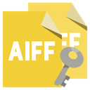 File, Aiff, Key, Format Goldenrod icon