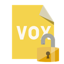 File, Format, open, Lock, vox SandyBrown icon