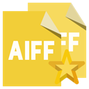 File, star, Aiff, Format Goldenrod icon