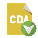 Down, Cda, File, Format Goldenrod icon