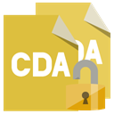 Lock, Format, open, File, Cda Goldenrod icon