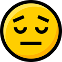 Ideogram, Emoji, interface, Smileys, faces, feelings, emoticons, disappointed Gold icon