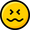 feelings, emoticons, Smileys, Emoji, faces, scared, Ideogram, interface Gold icon