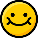 emoticons, smile, feelings, faces, Emoji, Smileys, interface, Ideogram Gold icon