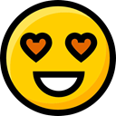 Smileys, Ideogram, feelings, emoticons, Emoji, in love, interface, faces Gold icon