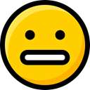 emoticons, Ideogram, feelings, faces, interface, Smileys, Emoji, surprised Gold icon