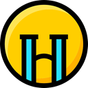 interface, faces, Emoji, Smileys, Ideogram, Crying, emoticons, feelings Gold icon