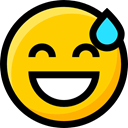 Ideogram, Emoji, Smileys, faces, Embarrassed, interface, emoticons, feelings Gold icon
