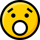 surprised, Emoji, feelings, Ideogram, emoticons, Smileys, interface, faces Gold icon
