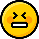 Ideogram, Smileys, Emoji, interface, feelings, emoticons, faces, Stress Icon