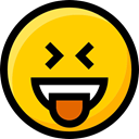 faces, feelings, Smileys, Ideogram, interface, laughing, Emoji, emoticons Gold icon