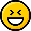 emoticons, feelings, Ideogram, faces, Emoji, Smileys, laughing, interface Gold icon