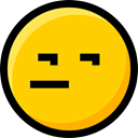 emoticons, faces, Emoji, interface, Smileys, Suspect, feelings, Ideogram Gold icon