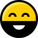 faces, emoticons, interface, Ideogram, Emoji, Beard, feelings, Smileys Gold icon