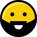 Emoji, Smileys, interface, faces, Beard, feelings, emoticons, Ideogram Gold icon