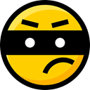 interface, faces, emoticons, Smileys, thief, Emoji, Ideogram, feelings Gold icon