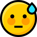 Ideogram, Embarrassed, interface, feelings, Emoji, emoticons, Smileys, faces Gold icon