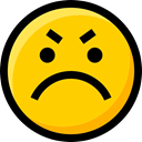emoticons, Angry, feelings, Emoji, Smileys, faces, interface, Ideogram Gold icon