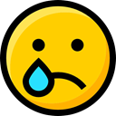 interface, faces, Smileys, Emoji, emoticons, Crying, Ideogram, feelings Gold icon