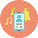 Telephone Call, phone call, ringtone, phone, electronics, telephone, interface DarkSalmon icon