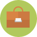 Business And Finance, Business, portfolio, suitcase, Bag, Briefcase DarkKhaki icon
