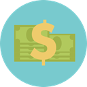 Profits, Business And Finance, Currency, Money, Dollar, Cash SkyBlue icon
