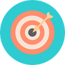 objective, Archery, sport, archer, weapons, miscellaneous, Target, Arrow MediumTurquoise icon