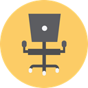 sitting, miscellaneous, Seat, Furniture And Household, Desk Chair, Chair, buildings SandyBrown icon