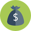 Money, Dollar Symbol, Business And Finance, Currency, money bag, Bank, banking, Business DarkKhaki icon