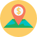 Maps And Location, Gps, Map Location, map pointer, locations, Map Point, placeholder, pin, position, Maps And Flags, Street Map SandyBrown icon