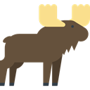 Wild Life, Animal Kingdom, zoo, Animals, Moose, mammal DarkOliveGreen icon