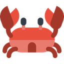 Aquarium, Crabs, Animals, Beach, food, Sea Life, Summertime, summer, Crab Brown icon