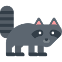 racoon, Animals, Animal Kingdom, zoo, Wild Life, Animal DimGray icon