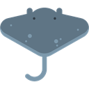 ray, Sea Life, Manta Ray, Aquatic, Animals, Aquarium SlateGray icon