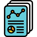 File, Business, Analytics, statistics, Page, Stats, document MediumTurquoise icon