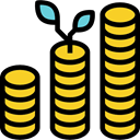 commerce, Coins, increase, growth, Money, Business Black icon